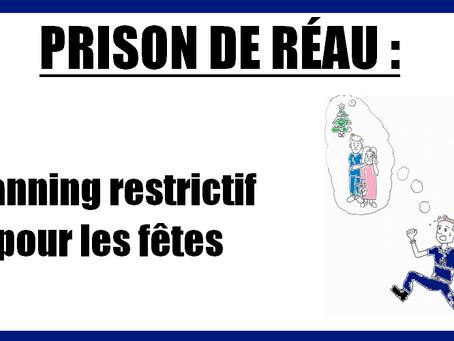 Prison de Réau : Planning restrictif pour les fêtes