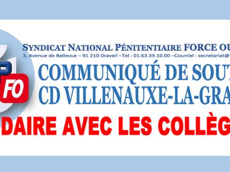 Communiqué de soutien CD Villenauxe-la-Grande : Solidaire avec les collègues