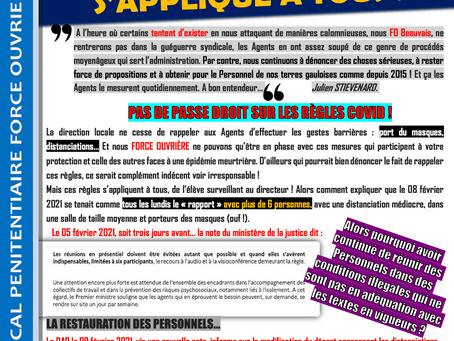 Prison de Beauvais : Le respect des règles s'applique à tous !