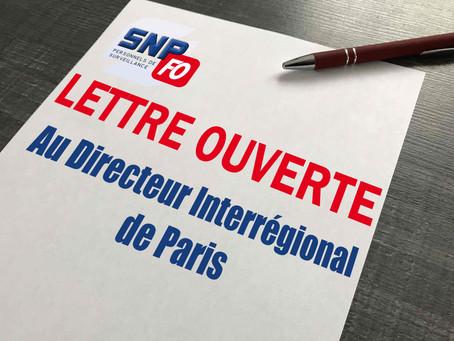 Lettre ouverte au Directeur Interrégional de Paris