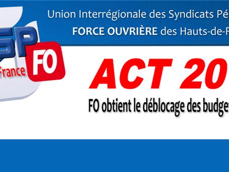 Hauts-de-France : ACT 2018, FO obtient le déblocage des budgets locaux...