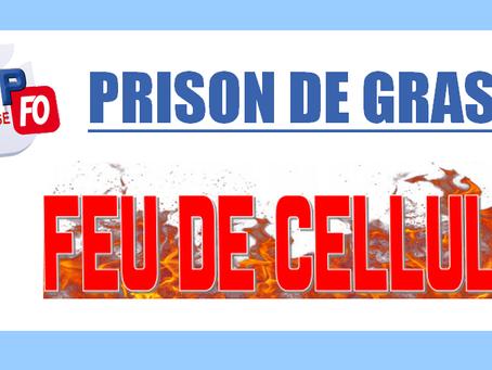 Prison de Grasse : Feu de cellule