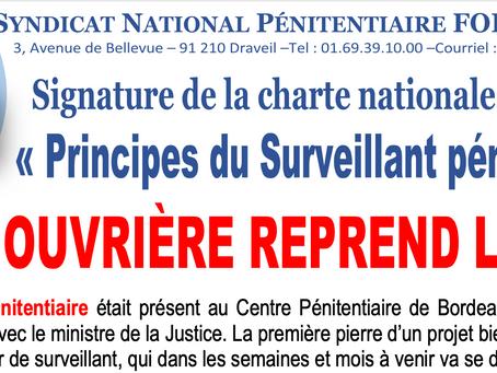 """Signature de la charte nationale relative aux """"Principes du Surveillant Pénitentiaire"""""""