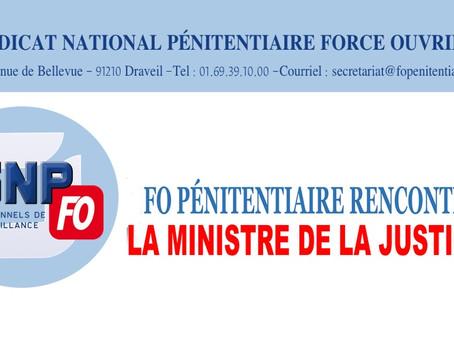 FO Pénitentiaire rencontre la Ministre de la Justice