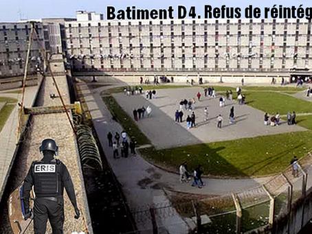 Prison de Fleury-Mérogis : Communiqué de soutien Refus de réintégrer D4