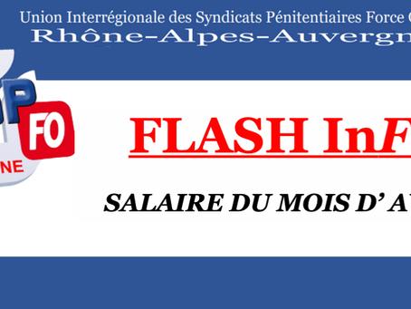 DI de Lyon : Salaire du mois d'Avril