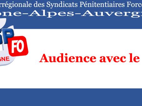 DI de Lyon : Audience avec le Directeur Interrégional