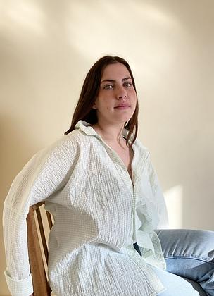Women's Shelsley Shirt / Deadstock Striped Cotton