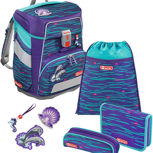 STEP BY STEP® Schulrucksack-Set Space 5teilig Happy Dolphins