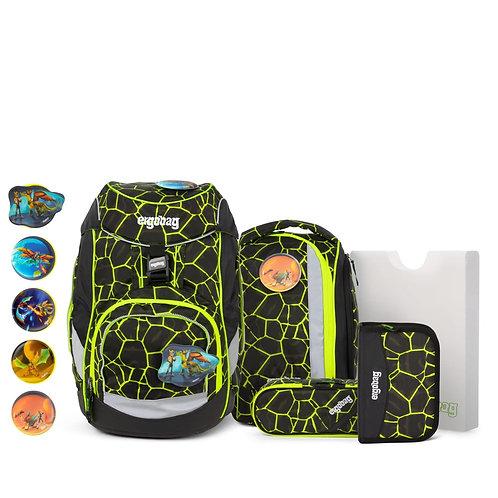 ergobag pack 6-teiliges Schulrucksack-Set DrachenfliegBär