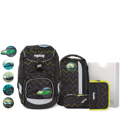 ergobag pack 6-teiliges Schulrucksack-Set Drunter und DrüBär