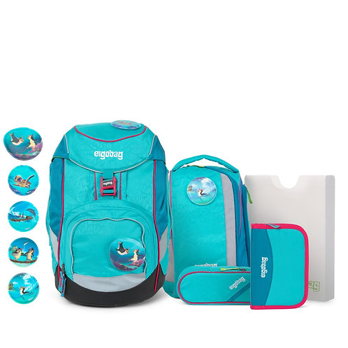 ergobag pack 6-teiliges Schulrucksack-Set Hula HoopBär