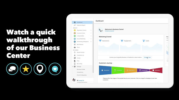 Get a quick demo of our Business Center