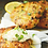 Thumbnail: Shrimp and Cod Cakes with side of sweet potato wedges