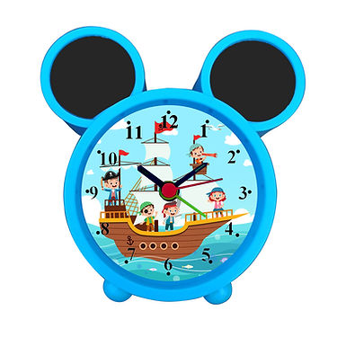 Cartoon Pirates on ship Alarm Clock for Kids Room by WENS