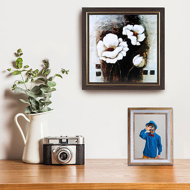 WENS Brown Wall Mounted & Table Photo Frame With Acrylic Glass