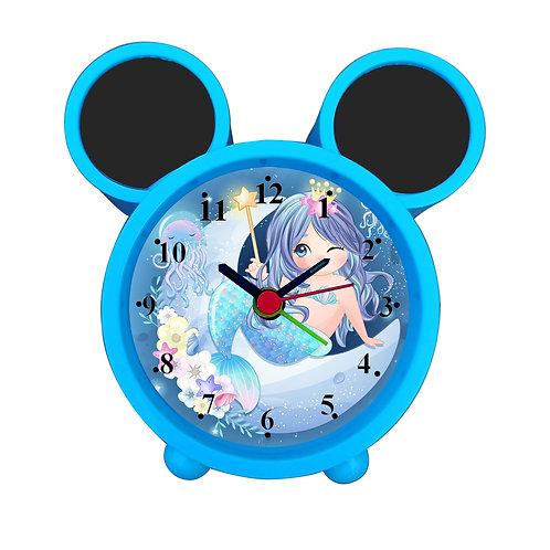 Mermaid On Moon Alarm Clock for Kids Room by WENS