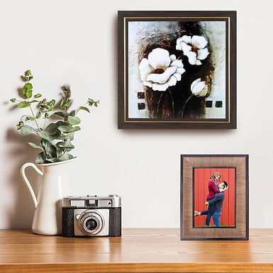 WENS Wall Mounted & Table Photo Frame With Mount- Copper Brown
