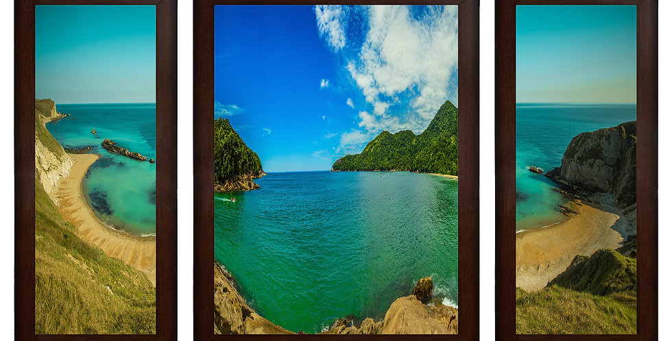 Mountain River View MDF Wall Art (13.5 x 24 x 0.75 Inch , Set of 3)