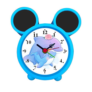 Dolphin Mother Love with Baby Alarm Clock for Kids Room by WENS