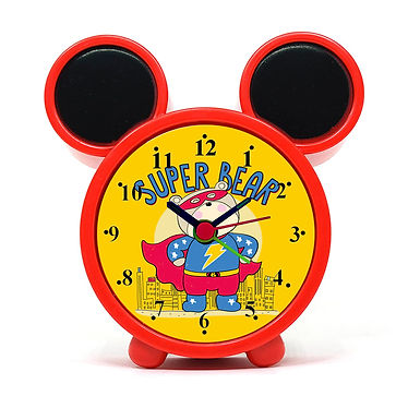 Super Bear Alarm Clock for Kids Room by WENS