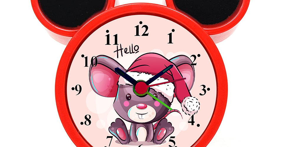 Naughty Mouse Alarm Clock for Kids Room by WENS