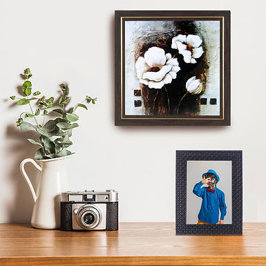WENS Wall Mounted & Table Photo Frame With Acrylic Glass -Brown