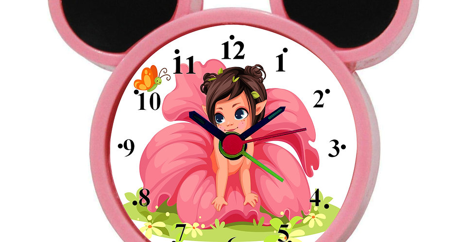 Beautiful Flower Girl Alarm Clock for Kids Room by WENS