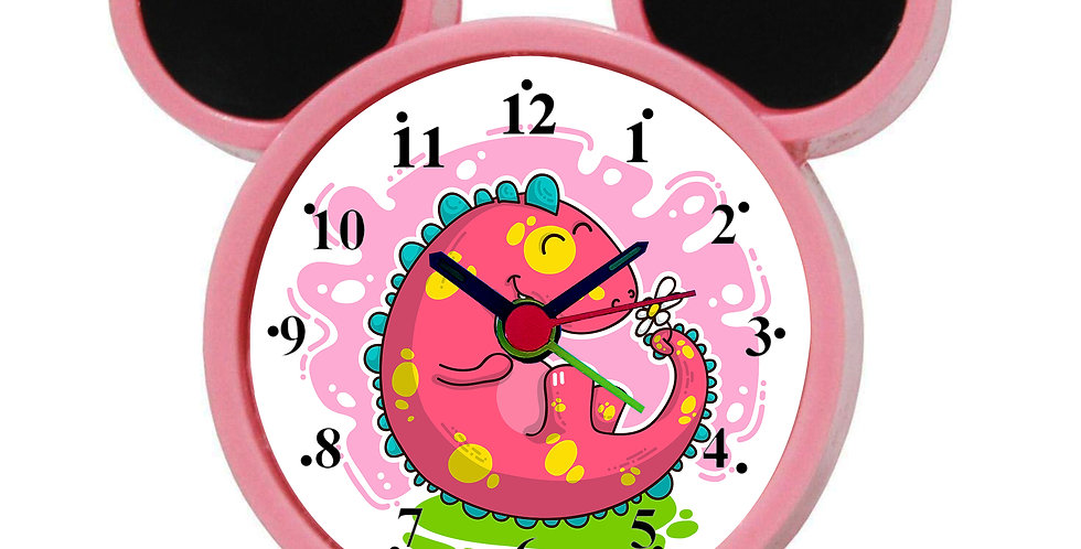 Dino Doodle Alarm Clock for Kids Room by WENS