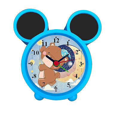 Cute Bear On the Moon Alarm Clock for Kids Room by WENS