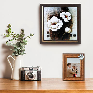 WENS Decorative Wall Mounted & Table Photo Frame- Golden