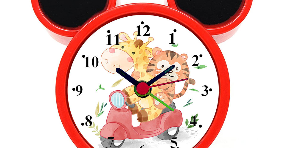 Animal Friends Ride Alarm Clock for Kids Room by WENS