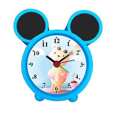 Cute Cartoon Bear Alarm Clock for Kids Room by WENS
