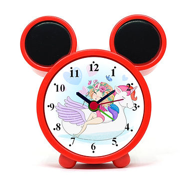 Unicorn Cute Girl Alarm Clock for Kids Room by WENS