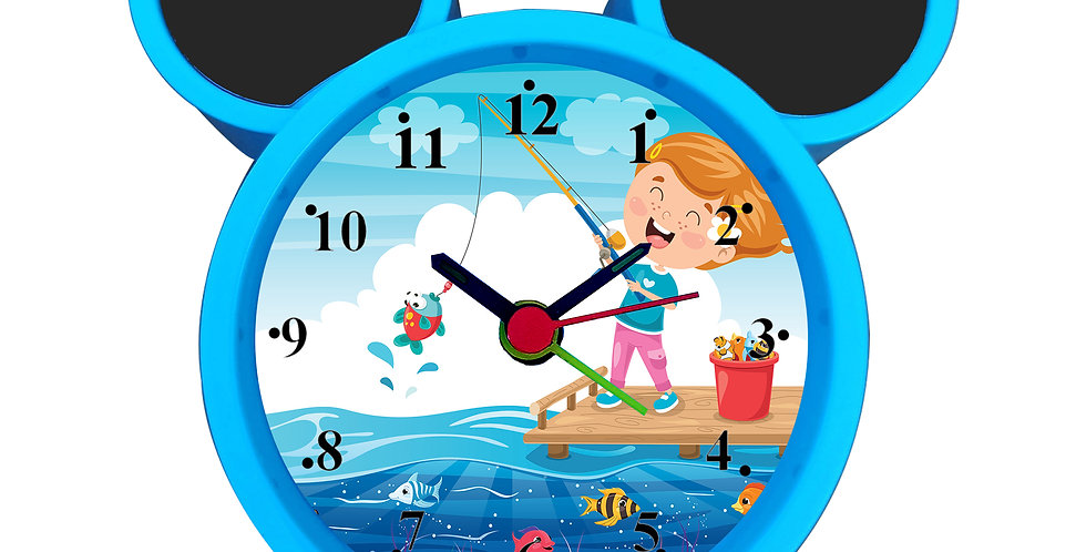 Happy Boy Fishing Alarm Clock for Kids Room by WENS