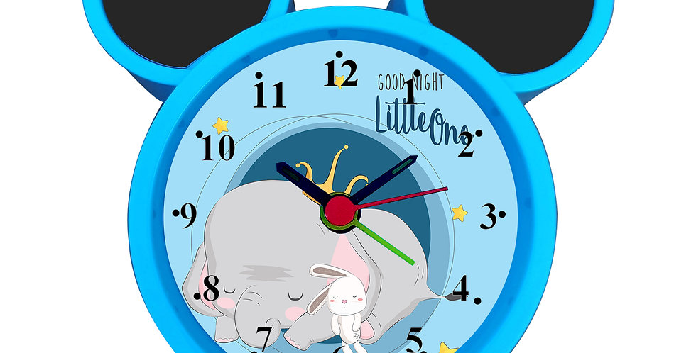 Baby Elephant Alarm Clock for Kids Room by WENS