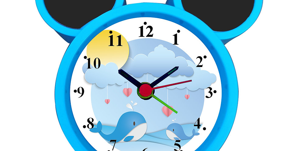 Dolphin In Rain Alarm Clock for Kids Room by WENS