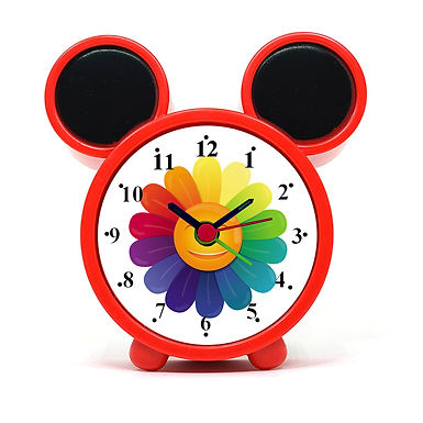 Colorful Flower Alarm Clock for Kids Room by WENS