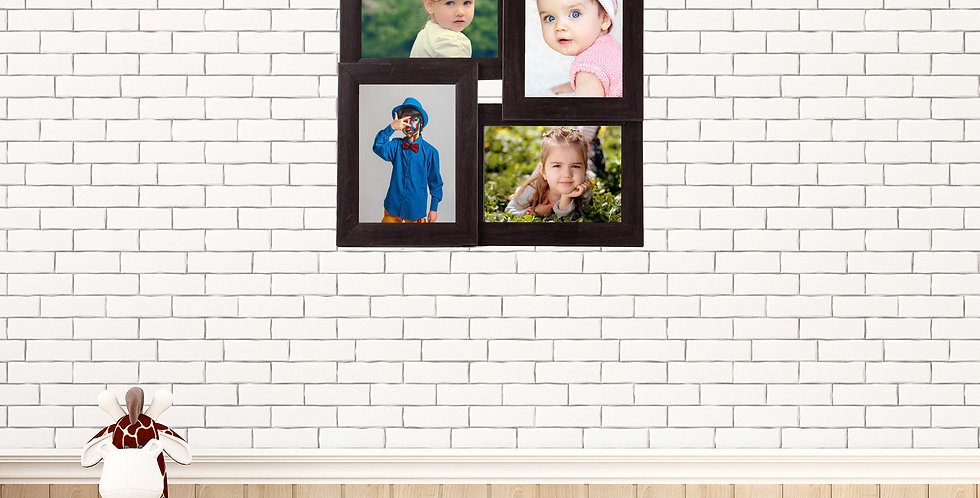 WENS 4 Openings  Decorative  Wall Hanging Collage Photo Frame With Acrylic Glass