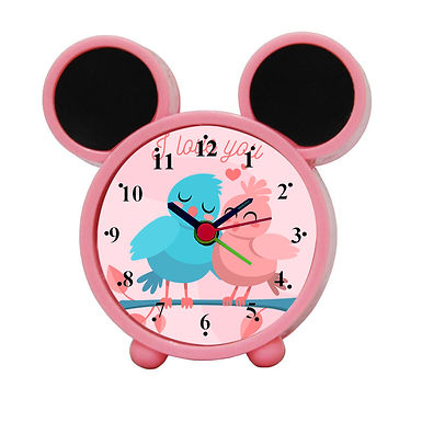 Love Birds Alarm Clock for Kids Room by WENS
