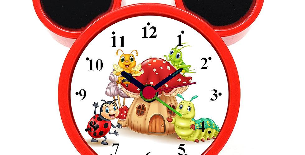 Cartoon Mushroom House Alarm Clock for Kids Room by WENS