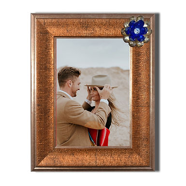 WENS Decorative Wall Mounted & Table Photo Frame With Acrylic Glass- Golden