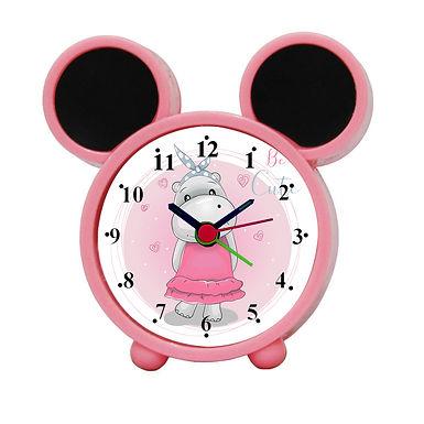 Cartoon Hippo Alarm Clock for Kids Room