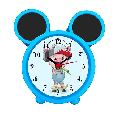 Roller Skate Ride Alarm Clock for Kids Room by WENS