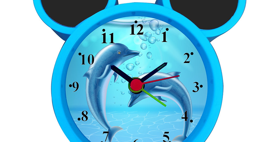 Dolphin Alarm Clock for Kids Room by WENS