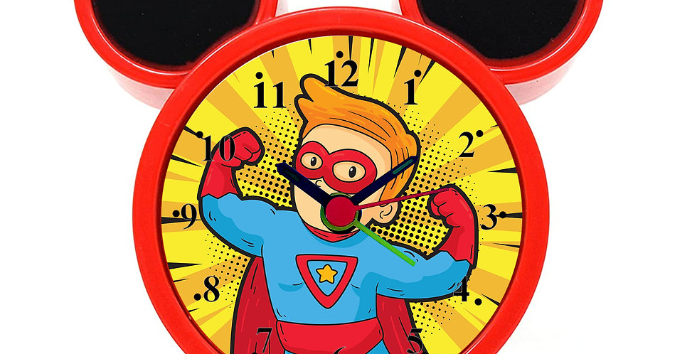 Superhero Alarm Clock for Kids Room by WENS