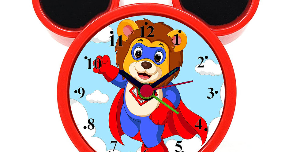 Lion Superhero Alarm Clock for Kids Room by WENS