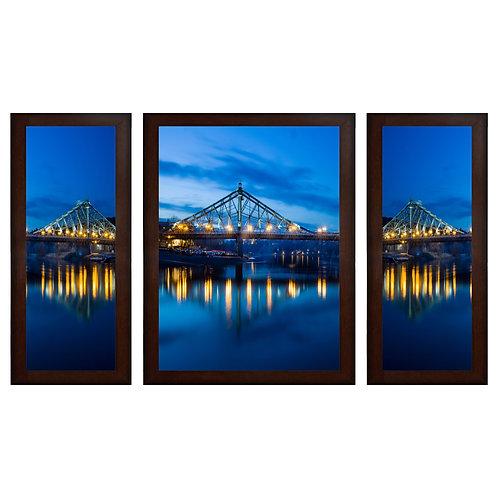 Bridge MDF Wall Art (13.5 x 24 x 0.75 Inch , Set of 3)