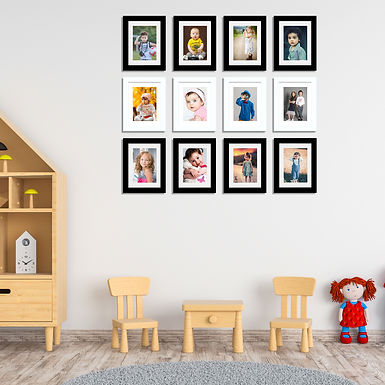 """Wens Synthetic Wood  Wall Mounted Frames  - Displays Twelve 5""""x7"""" Inch photos"""