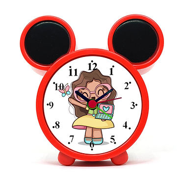 Happy Girl Alarm Clock for Kids Room by WENS